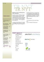 TR i staten – kursus - Arkitektforbundet