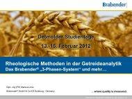 Rheologische Methoden in der Getreideanalytik 6. Zweite Phase