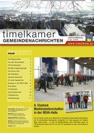Gemeindenachricht Nr. 2/2008 - Marktgemeinde Timelkam