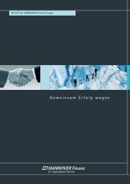 Gemeinsam Erfolg wagen - Hannover Finanz Austria