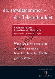 Rheinhessischer Anwaltverein Mainz e. V. - Bochumer Anwalt