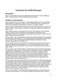 Verzeichnis der Veröffentlichungen - KH Freiburg