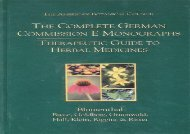 The Complete German Commission E Monographs: Therapeutic Guide to Herbal Medicines
