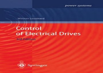 Control of Electrical Drives (Power Systems)