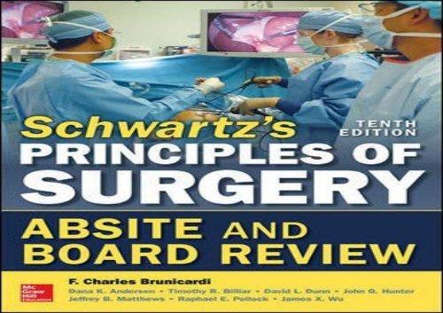 Schwartz Surgery 10th Edition Pdf