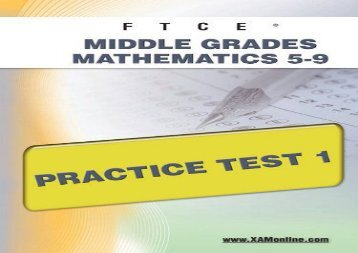 Ftce Middle Grades Math 5-9 Practice Test 1