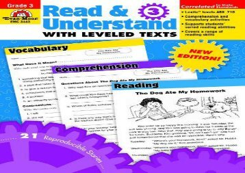 Read   Understand with Leveled Texts, Grade 3