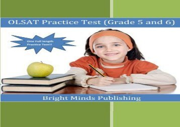 OLSAT Practice Test (Grade 5 and 6)