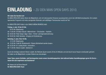 Einladung – zu den MAn Open dAys 2010.