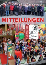 OTB-Mitteilungen 01-2012 - Oldenburger Turnerbund