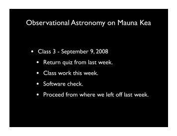 Observational Astronomy on Mauna Kea