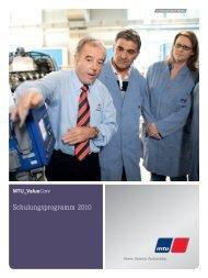 Schulungsprogramm 2010 - MTU Shop