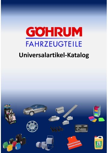 Baugruppen-Übersicht Universalartikel-Katalog