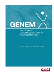 GENEM - Gesundheitsförderungsnetzwerk für MigrantInnen - Avos