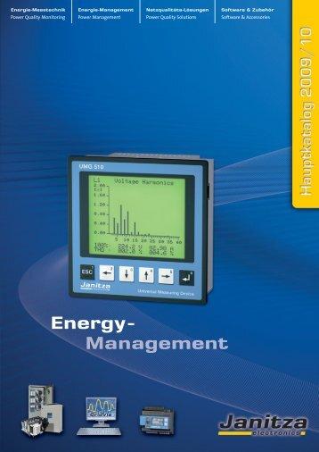Ausführungsvarianten und technische Daten - Janitza Electronics ...