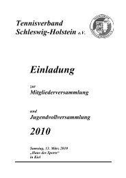 Einladung 2010 - Tennisverband Schleswig-Holstein