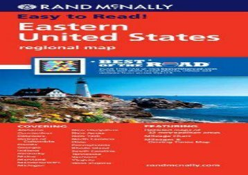 "Rand McNally Eastern United States: Regional Map (""Learn to"" sports books) (Rand McNally)"