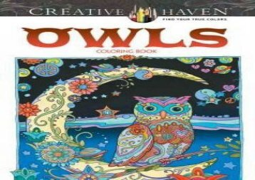 Creative Haven Owls Coloring Book (Adult Coloring) (Marjorie Sarnat)