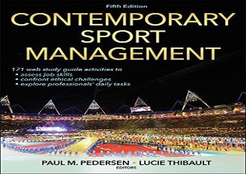 Contemporary Sport Management-5th Edition With Web Study Guide ()