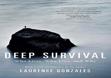 deep survival by laurence gonzales summary pdf