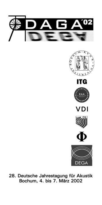 DAGA'02 - Programmheft - Deutsche Gesellschaft für Akustik eV