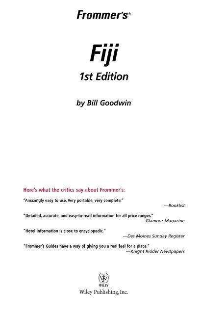 Fiji 1st Edition Developers