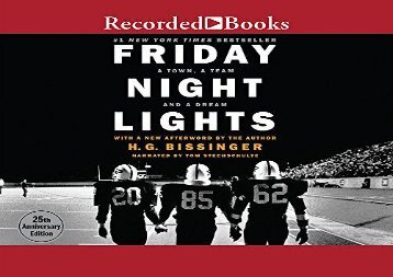 Friday Night Lights: A Town, A Team, And A Dream (H.G. Bissinger)