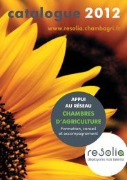 catalogue 2012 - Chambres d'agriculture