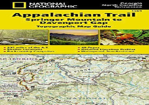 Appalachian Trail In Georgia Map.Appalachian Trail Springer Mountain To Davenport Gap Georgia