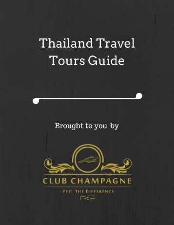 Thailand Travel Tours Guide