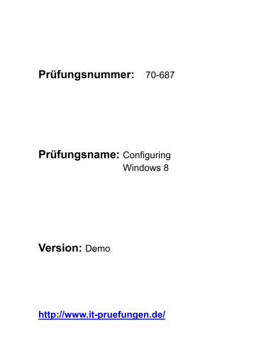 exam fragen Windows 8 70-687