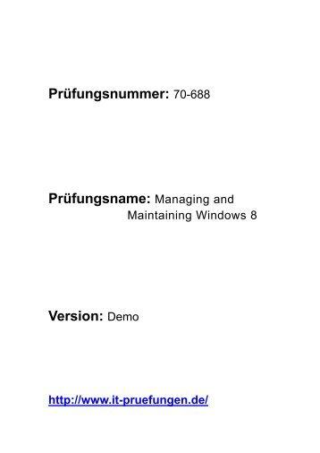 it-pruefungen.de Schulungsunterlagen 70-688