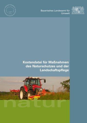 Kostendatei für Maßnahmen des Naturschutzes und der ...