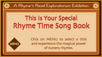 The WordStart Nursery Rhyme Song Book