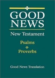 New Testament Psalms Proverbs-GNV (American Bible Society)