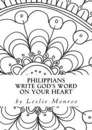 Philippians Write God s Word on Your Heart (Leslie Monroe)