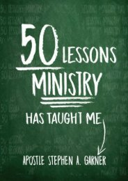 50 Lessons Ministry Has Taught Me (Stephen Garner)