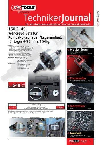 Für Kfz-Reparaturwerkstätten und Automobilindustrie - KS Tools AG