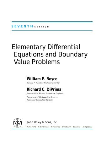 Mathematics - Elementary Differential Equations