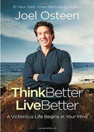 Think Better, Live Better: A Victorious Life Begins in Your Mind (Joel Osteen)