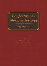 Perspectives on Mormon Theology: Apologetics (Blair G. Van Dyke)