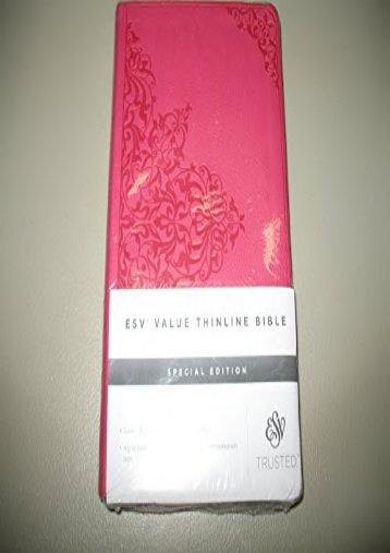 ESV Value Thinline Bible Special Edition (ESV; Crossway)