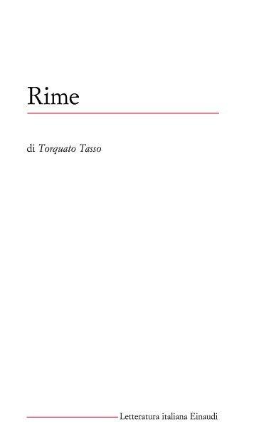 di Torquato Tasso - Letteratura Italiana