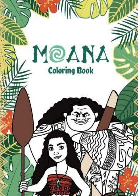 moana coloring book for kids selena weber