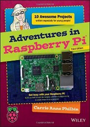 Adventures in Raspberry Pi (Carrie Anne Philbin)