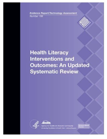 Health Literacy Interventions and Outcomes - Agency for Healthcare ...