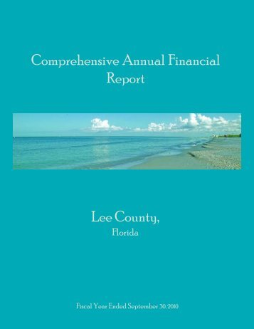 Other Supplemental Schedules - Lee County, Florida