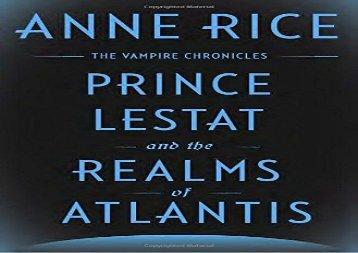 Anne Rice Prince Lestat Pdf