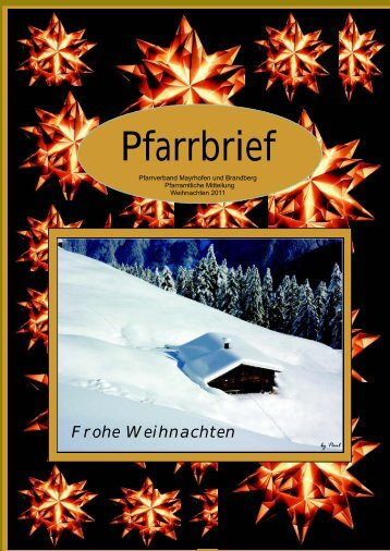 Das Weihnachtsevangelium nach Lukas - Pfarrer von Mayrhofen ...