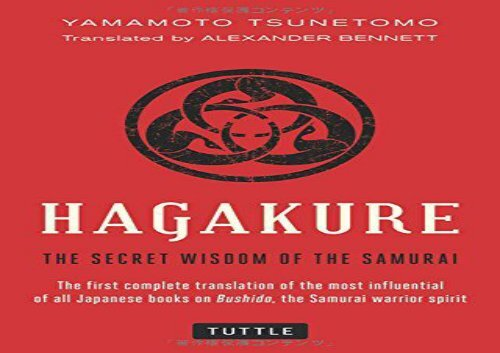 Pdf of the the hagakure book samurai